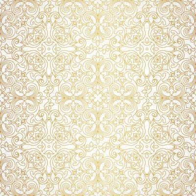 Fototapete Vector nahtlose Muster im viktorianischen Stil.