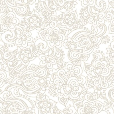 Fototapete Vector nahtlose Muster mit romantischen floralen Hintergrund