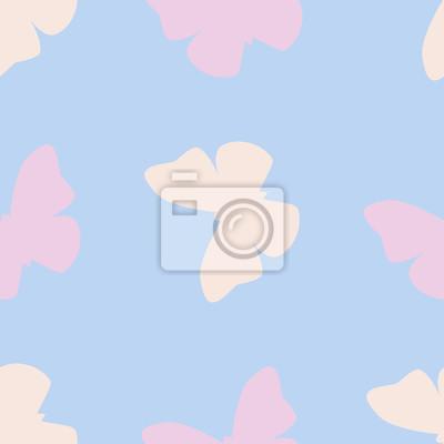 Vector Nahtlose Muster Mit Zarten Rosa Und Orange Schmetterlinge