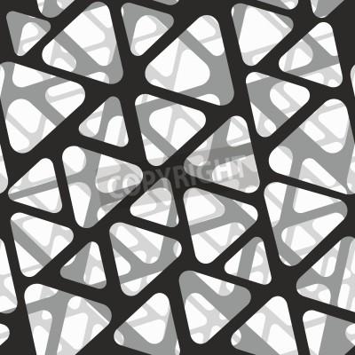 Fototapete Vector nahtlose Muster. Moderne stilvolle 3d Textur des Netzes.