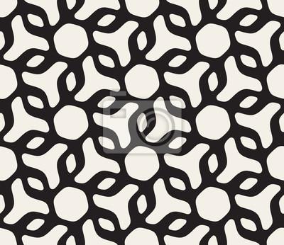 Vector nahtlose schwarz-weiß abgerundet floral dreieck form ...