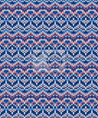 Vector nahtlose Weihnachten Pullover Strickmuster in ethnischen Stil