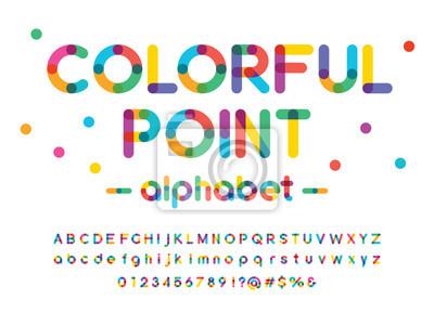 Fototapete Vector of modern colorful alphabet design