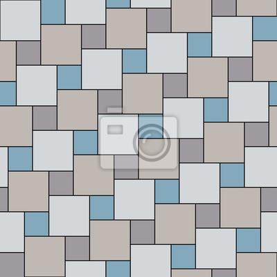 Vector Pastell Grau Fliesen Nahtlose Muster Quadratische Gitter - Fliesen grau quadratisch