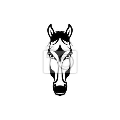Vector pferd kopf, gesicht für retro hipster logos, embleme ...