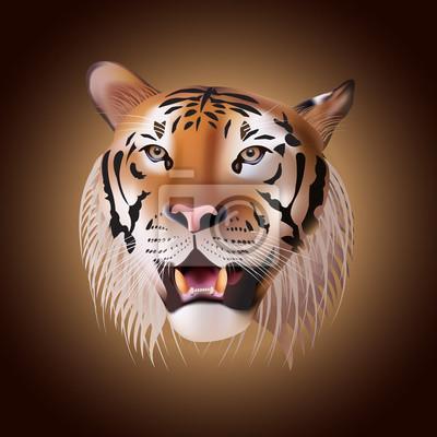Vector Porträt eines Tigers.