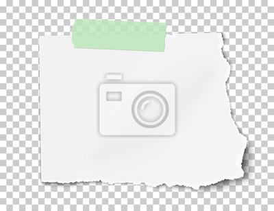 Vector rechteckiges heftiges blatt papier mit weichem schatten ...