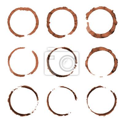 Design Enement Ring   Vector Reihe Von Cofee Ring Flecken Grunge Stil Design Element