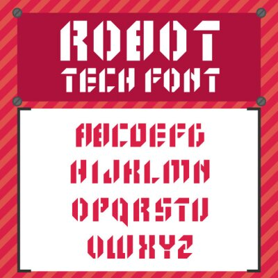 Vector Robot font in flachen Stil