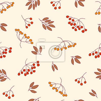 Vector rowan berries, pattern