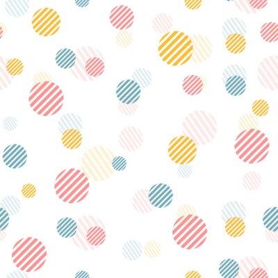 Fototapete Vector sanfte Vintage nahtlose Muster mit bunten Punkten.