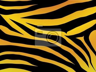 Vector schwarz und orange entkleidet Tiger Design
