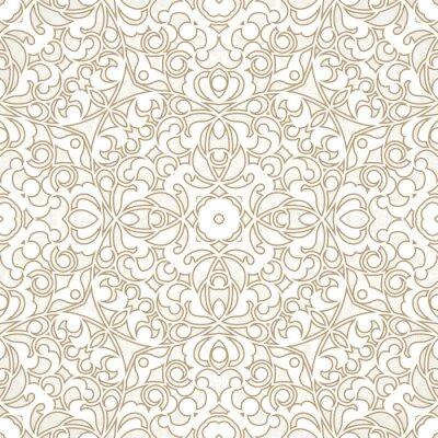 Fototapete Vector seamless pattern in Eastern style.