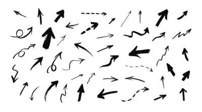 Fototapete Vector set of hand drawn grunge arrows