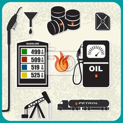 Vector Set von Öl-Symbole