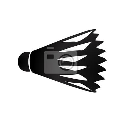 Vector shuttlecock, badminton ball, birdie