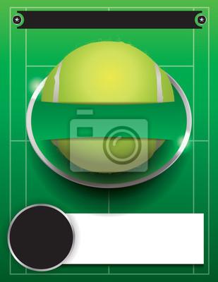 Vector Tennis-Turnier-Vorlage Illustration