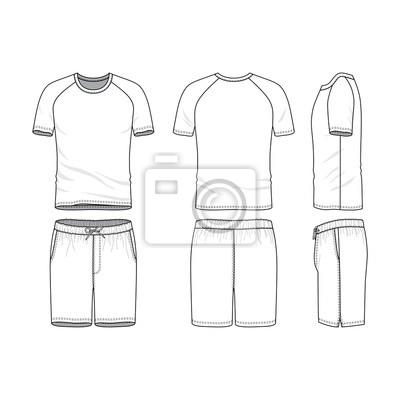 Vector vorlagen der kleidung gesetzt. sportbekleidung, einheitliche ...