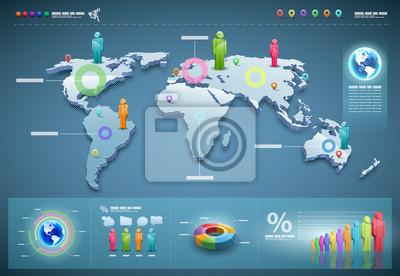 Vector Welt Infografiken Set.
