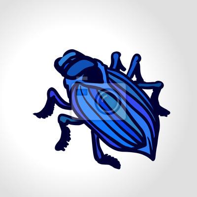 Vector-Zeichnung von einem Käfer. Konzept: Testen für Bugs