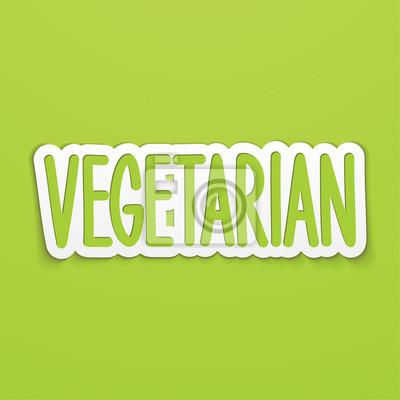Vegetarisch Hand geschrieben Schriftzug Kalligraphie. Vektor