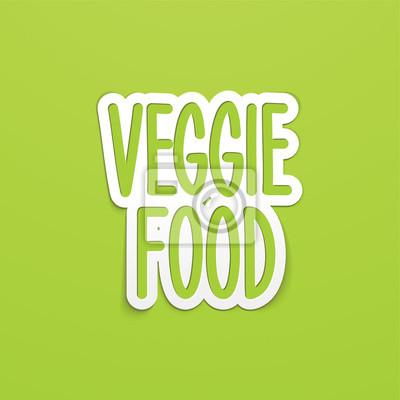 vegetarisches Essen Hand geschrieben Schriftzug Kalligraphie. Vektor