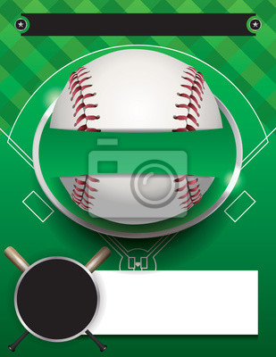 Vektor-Baseball-Turnier-Vorlage Illustration