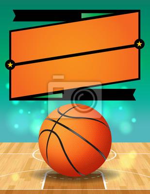 Vektor-Basketball-Liga-Flyer-Abbildung