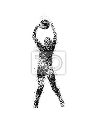 Vektor-Basketball-Spieler in Silhouetten