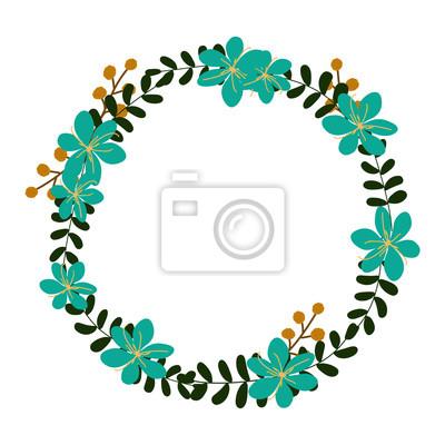 Vektor Blumenkranz Blumenrahmen Fur Den Gruss Einladung