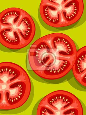 Vektor der frisch geschnittenen Tomaten