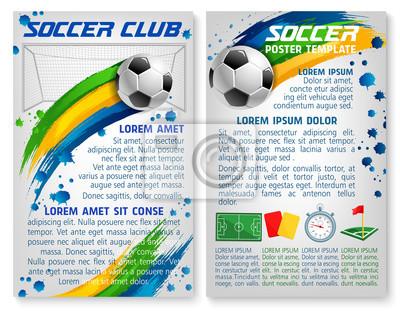 Vektor-fußball-team-club-fußball-plakat-vorlage fototapete ...