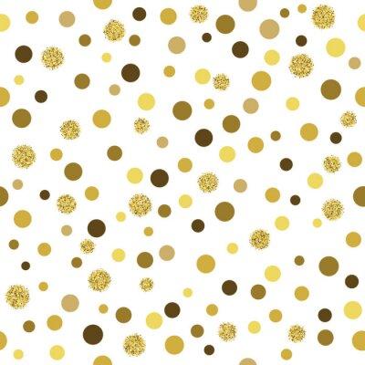 Fototapete Vektor Gold Glitter nahtlose Muster