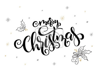 Weihnachtsgrüße Text.Fototapete Vektor Hand Schriftzug Weihnachtsgrüße Text Merry Christmas