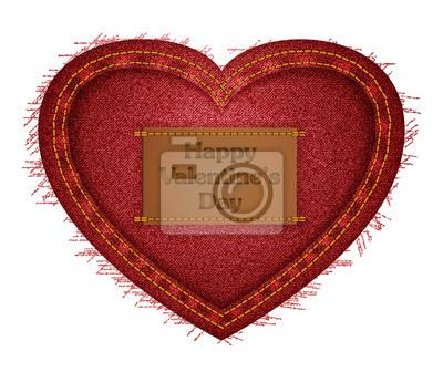 Vektor-Illustration der roten Jeans Herzen