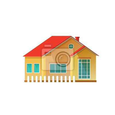 Vektor-Illustration detaillierte Haus-Symbol isoliert auf weißem Hintergrund.