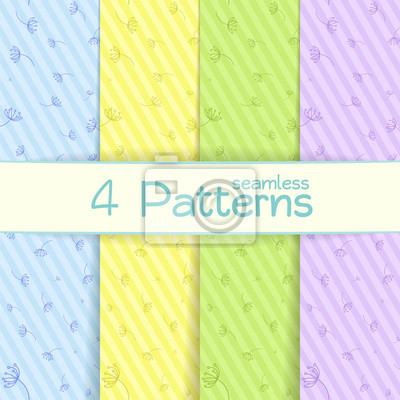 Vektor-Illustration Set von nahtlosen Mustern mit Pastellfarben