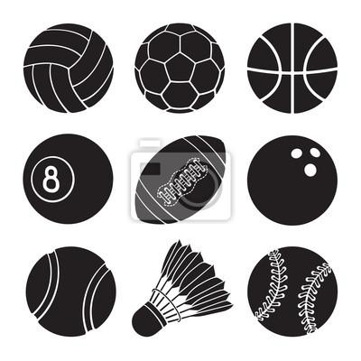 Vektor-illustration. silhouetten von fußball, fußball, basketball ...