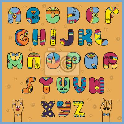 Vektor-Illustration von Alphabet