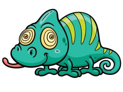 Fototapete Vektor-Illustration von Cartoon Chameleon