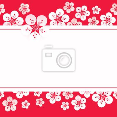 Vektor-Illustration von Sakura Blossom Hintergrund, Kirschblüte Vektor.
