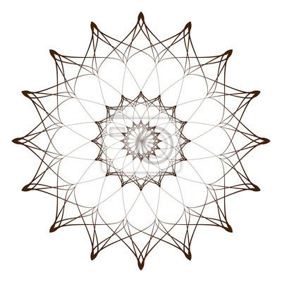 Vektor-illustration - zusammenfassung runde ornament muster ...