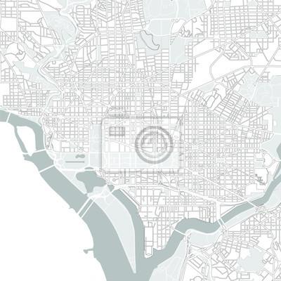 Washington Dc Karte.Fototapete Vektor Karte Der Stadt Washington Dc Usa