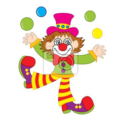 Fototapete Vektor Lustige Clown Jonglieren