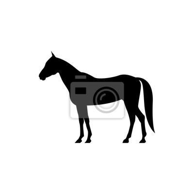Vektor pferd silhouette ansicht seite für retro-logos, embleme ...