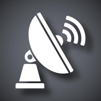 Vektor-satelliten-antenne-symbol. satelliten-antenne einfaches ...