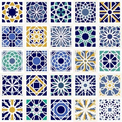Fototapete Vektor Satz von geometrischen Mustern