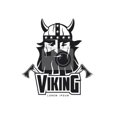 Vektor-wikinger-symbol logo-vorlage design einfache flache isoliert ...