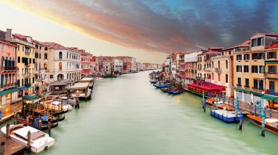 Fototapete Venedig - Großer Kanal von der Rialtobrücke