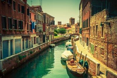 Fototapete Venedig-Kanal-Platz